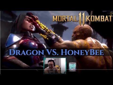 THE BEST SKARLET I FOUGHT! Mortal Kombat 11 Stress Test! HoneyBee vs Dragon! thumbnail