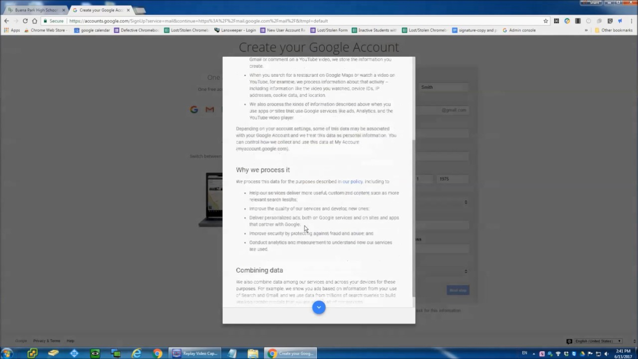 Step By Step Instructions On Creating A Free Gmail Account Spanish Version Youtube