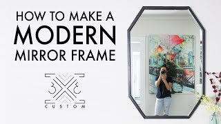 How to Make a Modern Mirror Frame // Woodworking // DIY Project // Scrap Project