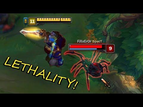 LETHALITY + CRITICAL STRIKE!! Insane GAREN Damage!  [ League of Legends ]
