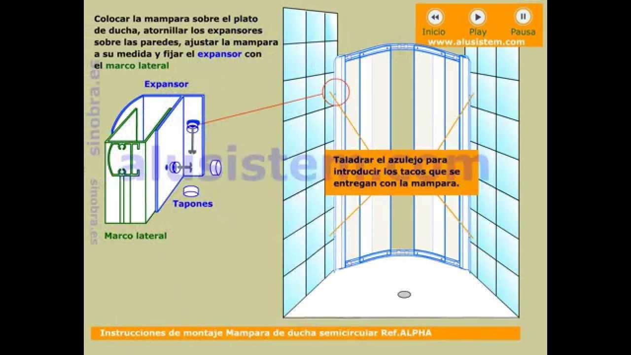 Instrucciones de montaje mampara de ducha curva youtube - Montaje mampara ducha ...