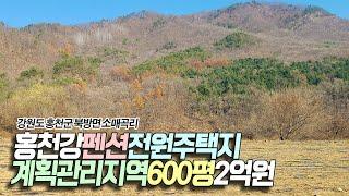 홍천강펜션,전원주택지/계획관리지역/600평/2억 - 홍…
