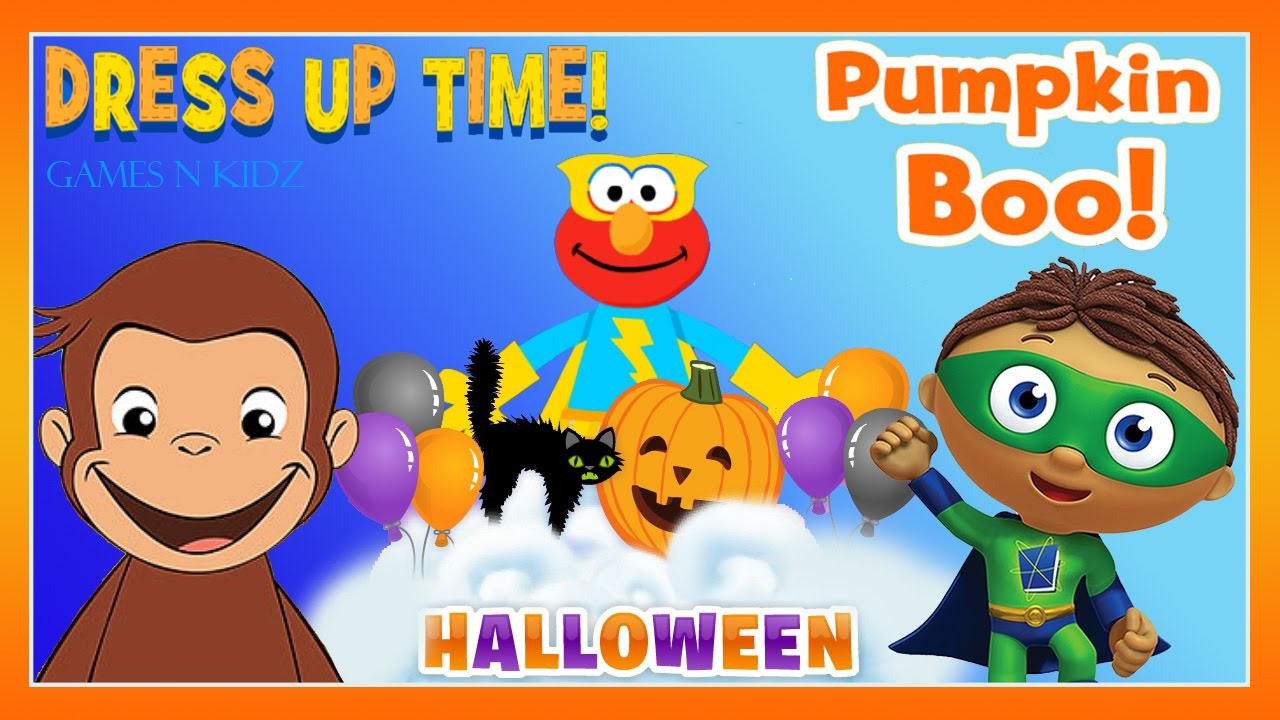 elmo curious george super why halloween games pbs kids apps - Curious George Halloween Games