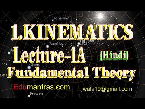 kinematics Hindi (Lecture-1A ) Basic Definitions