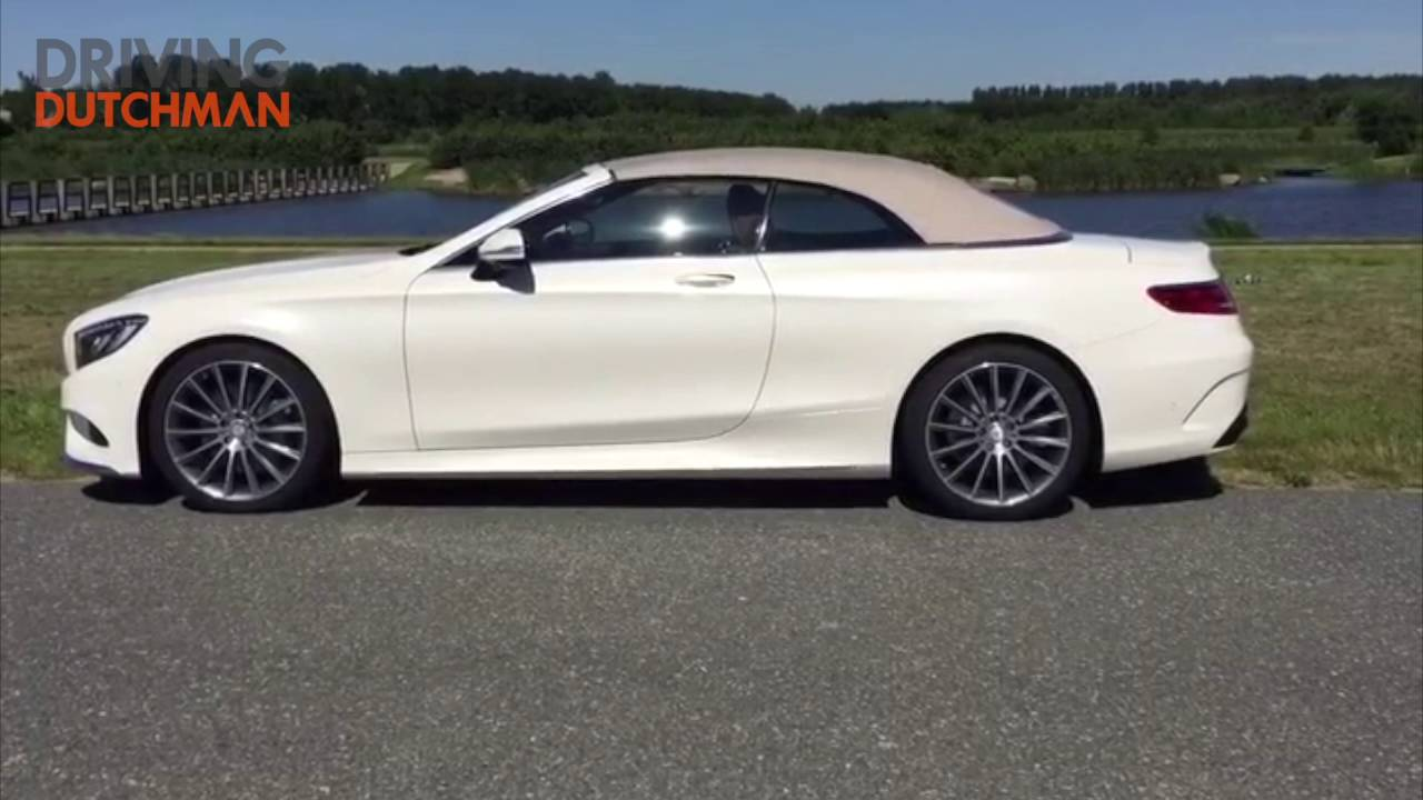 mercedes benz s 500 cabriolet roof open and close driving dutchman [ 1280 x 720 Pixel ]