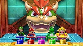 Mario Party The Top 100 MiniGames - Luigi Vs Mario Vs Yoshi Vs Wario (Master CPU)