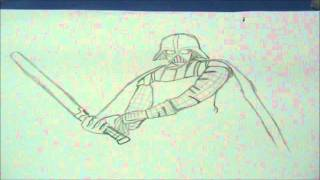 Speed Drawing of Darth Vader