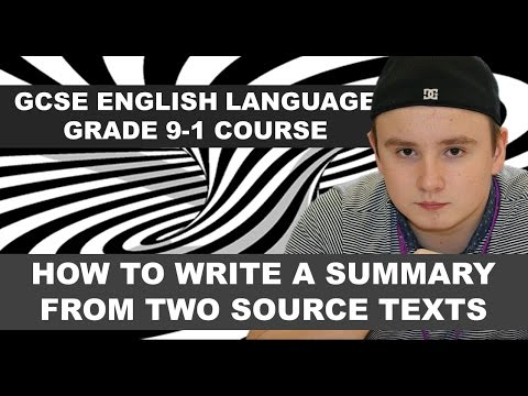 GCSE English Language Grade 9-1 Course: Paper 2 Question 2, Summary & Synthesis