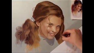 Girl Dry Pastel Portrait