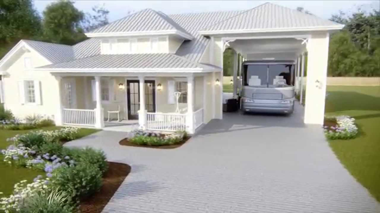 Tour an rv port home at reunion pointe youtube Rv port homes