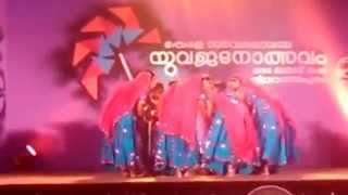 kerala university youth festival 2014 - group dance by Kerala Law Academy Law College,TVM