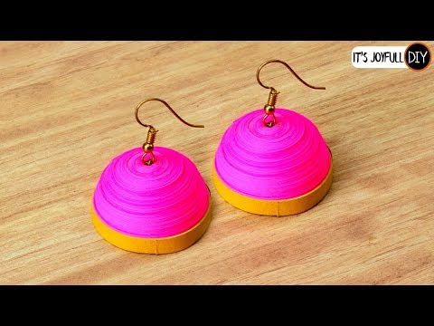 11-Quilling Jhumkas | Easy Way to Make This Jhumka Design