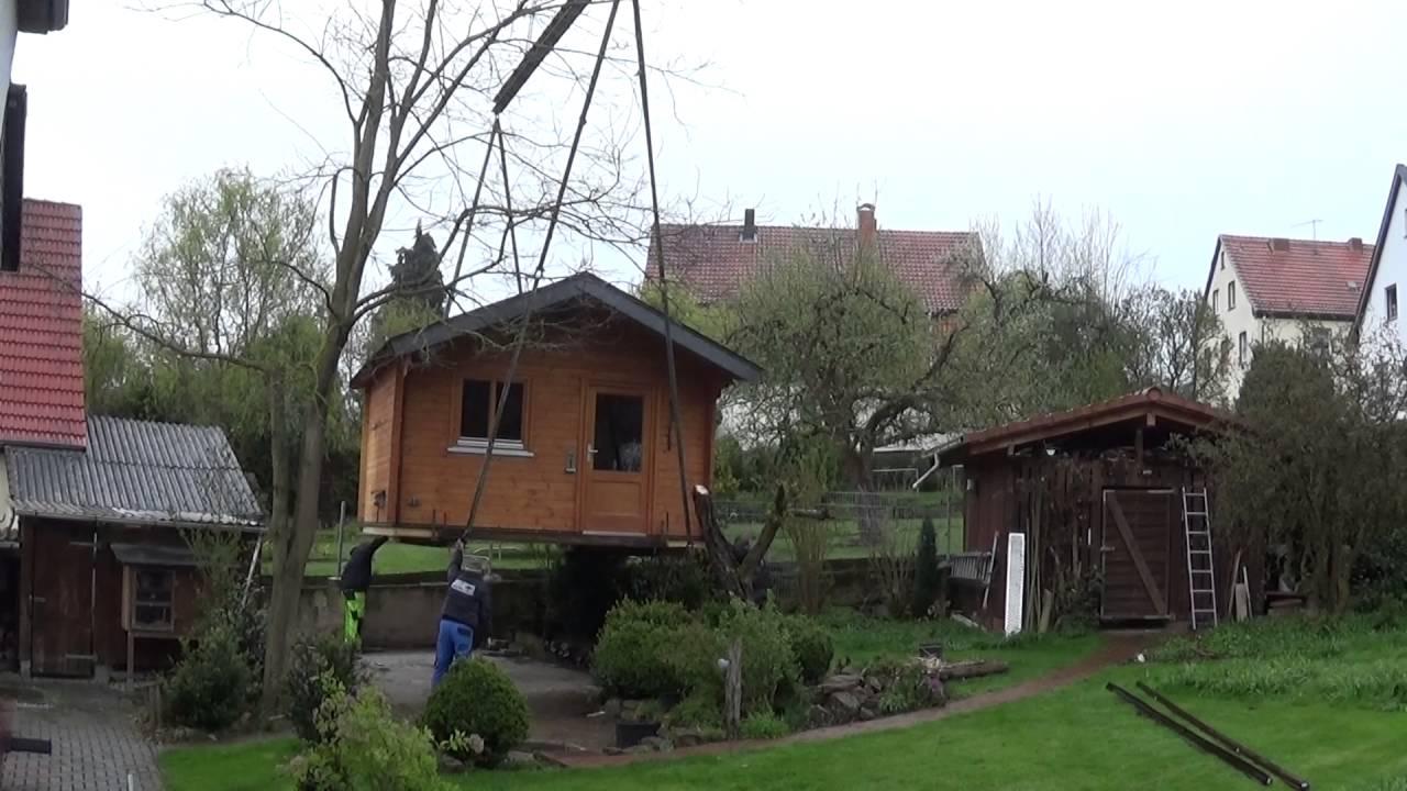 gartenhaus wird versetzt teil 1 youtube. Black Bedroom Furniture Sets. Home Design Ideas
