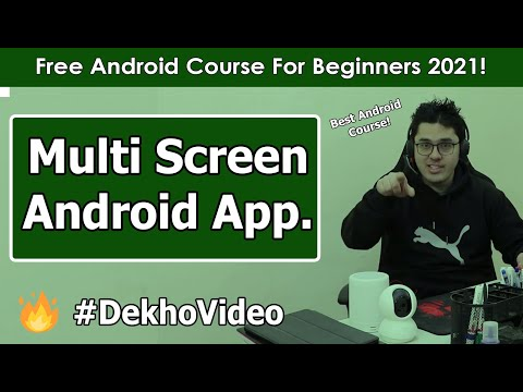 Creating a Multi Screen Android  Application | Android Tutorials in Hindi #7 thumbnail