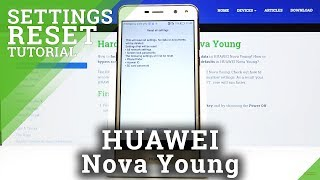 How to Reset Settings in HUAWEI Nova Young – Restore Defaults
