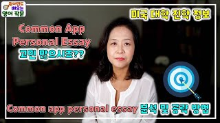 Common App Personal Essay| 미국대…
