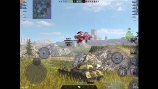 World of tanks blitz: is2 sh 1vs4 carrie