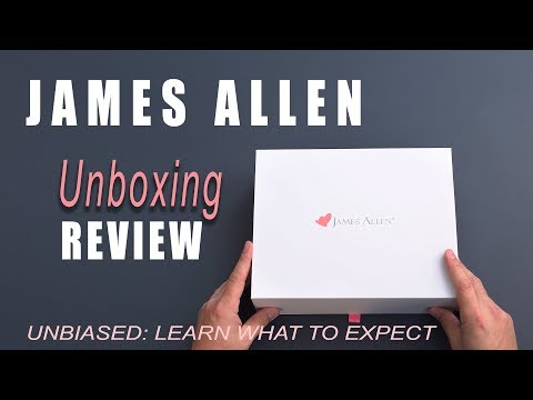 James Allen Review Diamond Unboxing - Learn what to expect when buying an engagement ring online