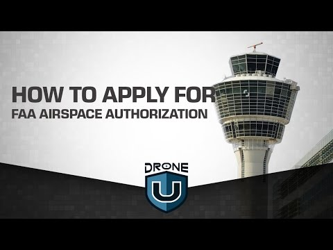 How to apply for FAA Airspace Authorization (not a waiver)