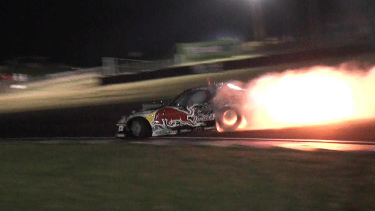 Car Spitting Flames Wallpaper Mad Mike Redbull Rx7 Spitting Flames Team Nz Promo