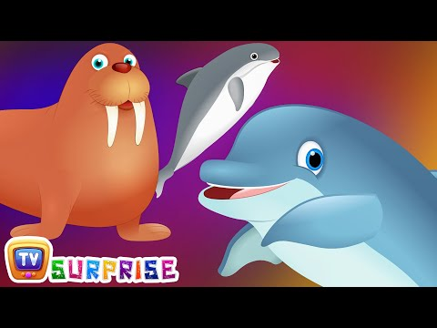 Thumbnail: Surprise Eggs Wildlife Mammals Toys | Wild Sea Animals & Animal Sounds | ChuChu TV Surprise For Kids