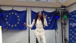 Conchita Wurst - Rise Like A Phoenix LIVE at the European Parliament,  Esplanade Brussels