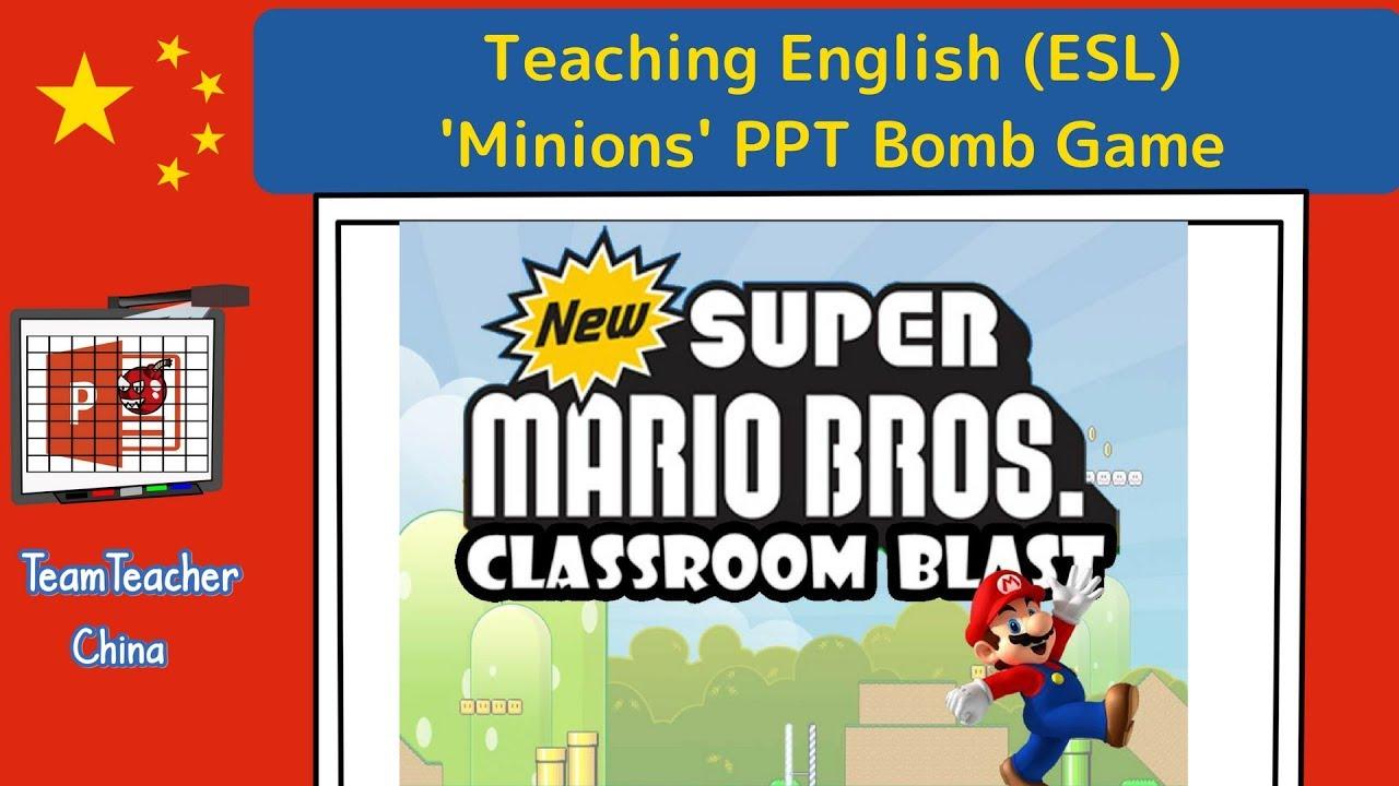 Super Mario Bros Classroom Blast Ppt Game Powerpoint Game