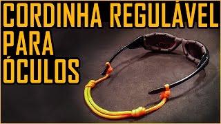 Como Fazer uma Cordinha Regulável para Óculos (Lash de Paracord)