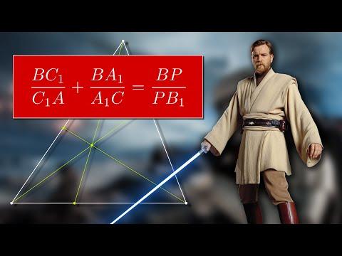 Теорема чевы и менелая видеоурок