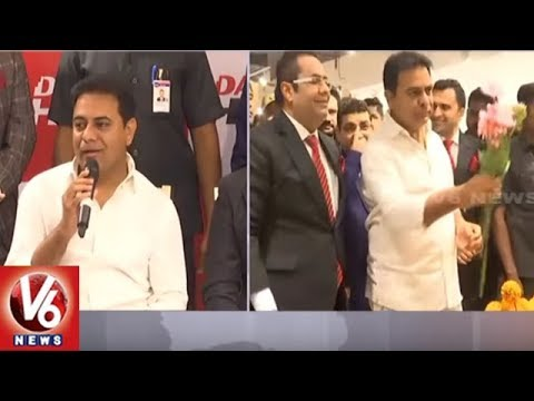 Minister KTR Launches Dubai Furnishing Store Danube Home In Hyderabad | V6 News