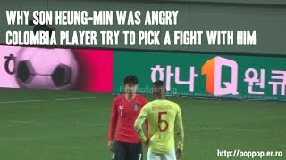 Colombia player spat on Son Heung-min,Davinson Sanchez tried to stop them (Post-match)