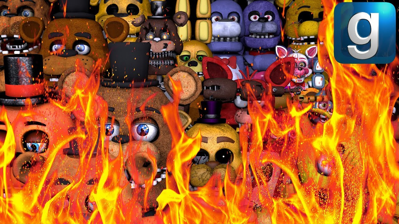 Gmod FNAF | This Is Why You Shouldn't Set A Ton Of FNAF Ragdolls On Fire