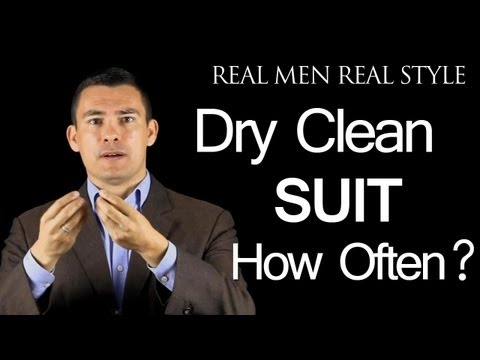 Dry Cleaning Men's Suits - When & How Often to Dry Clean Your 2 Piece Mens Suit
