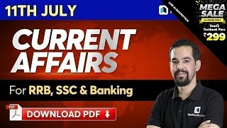 11 July Current Affairs For Ssc Chsl 2020, Sbi Clerk Mains & Ibps Rrb | Latest News Headlines