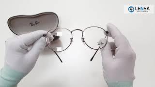 8c3c542dff3 Unboxing rame ochelari de vedere barbati Ray-Ban Round Metal RX3447V 2620 -  LENSA.