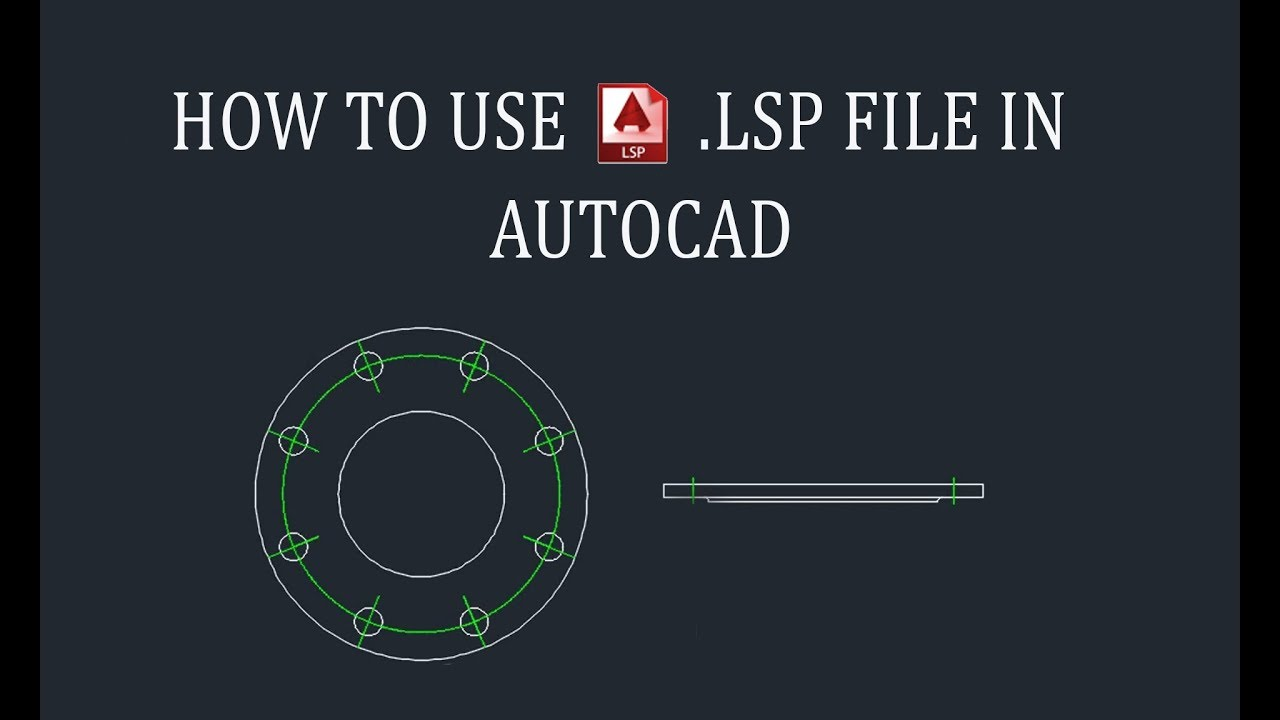 How to use  Lsp file in Autocad - Hindi (2017)