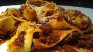 Pappardelle pasta with gravy