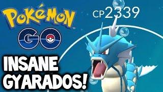 Pokemon GO ★ BEST GYARADOS EVER! ★ Magikarp Evolution ★ Catching Gengar/Alakazam/Clefable & Gyarados