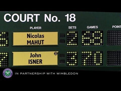 Isner v Mahut (2010 Men's First Round) - Rolex Wimbledon Golden Moments
