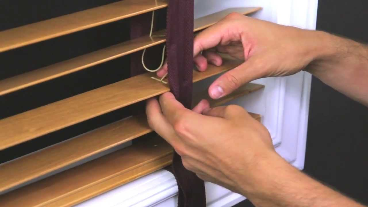 How To Replace Cloth Tape In A Horizontal Wood Blind Youtube