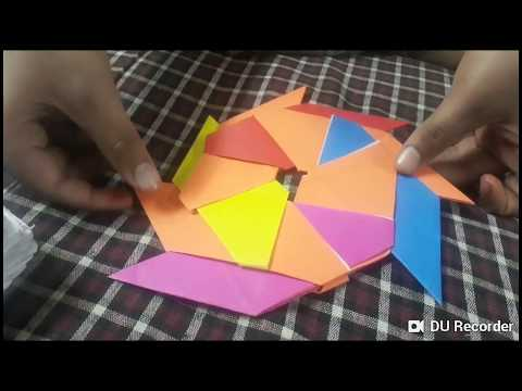 How to make organic paper star