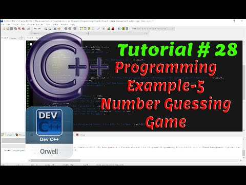 Tutorial#28 - Programming Example-5 | Number Guessing Game | C++ Programming by Coding Hub thumbnail