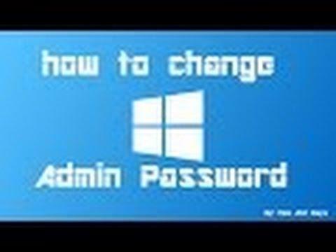 How to change admin account password on windows 10