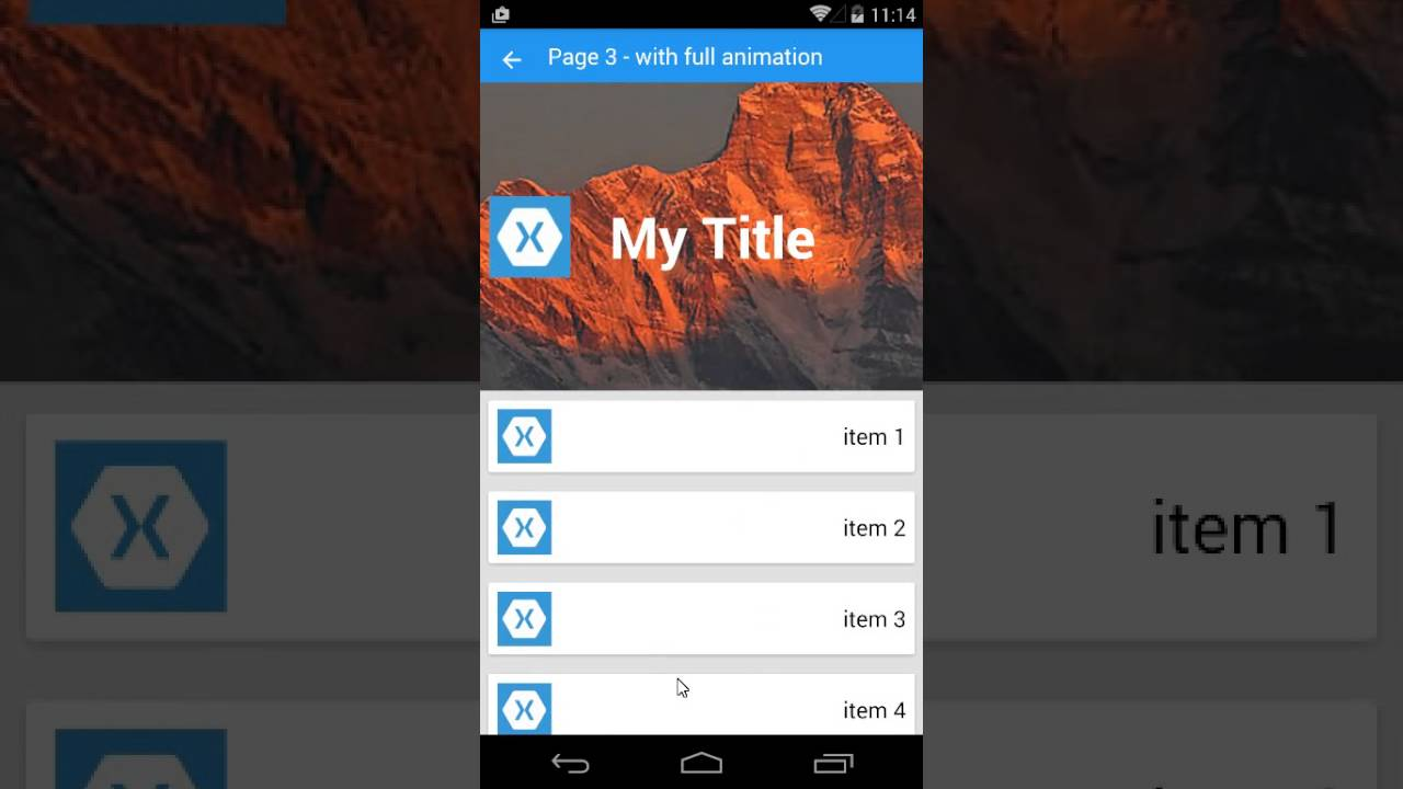 Xamarin Forms Listview With Animate Android Youtube