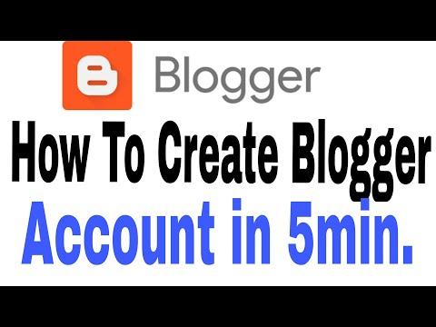 #Blogger [Hindi] How to Create Blogger account in 5 min | Blogger ka account kaise Banaye (Part -1)