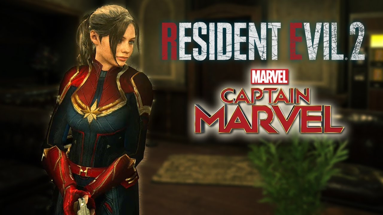Resident evil 2 Remake Captain Marvel Claire without helmet Mod at