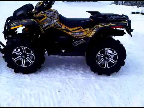 Can Am Xmr >> 2011 can am xmr outlander with new creator x decal kit - YouTube