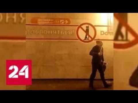 Мужчина с ножом не выпускал пассажиров из поезда в питерском метро - Россия 24