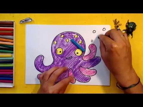 Как рисовать осьминога детям