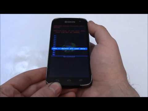 How To Hard Reset A Kyocera Hydro Icon C6730 Smartphone